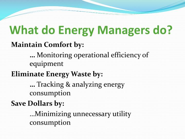 What do Energy Managers do?