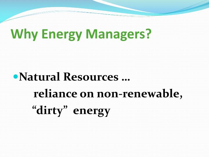 Why Energy Managers?