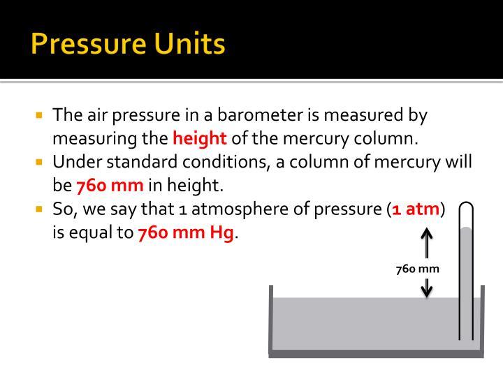 Pressure Units