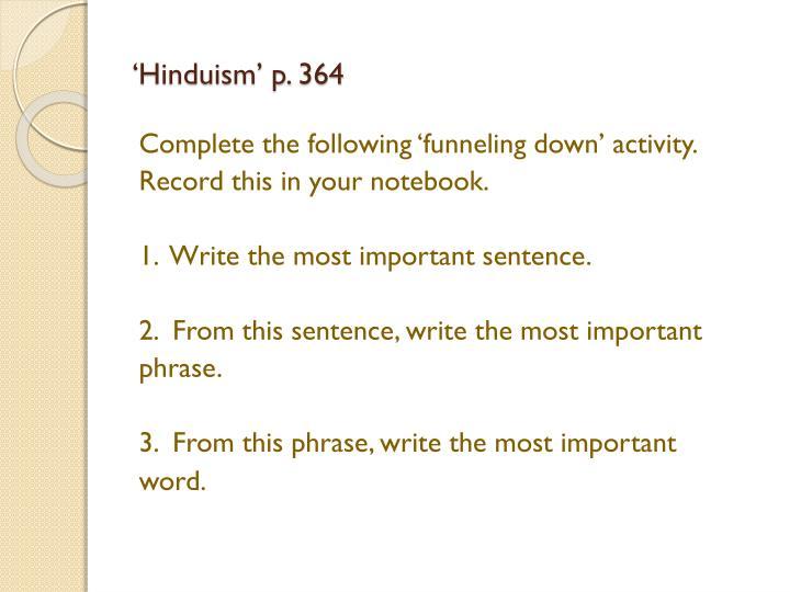 'Hinduism' p. 364