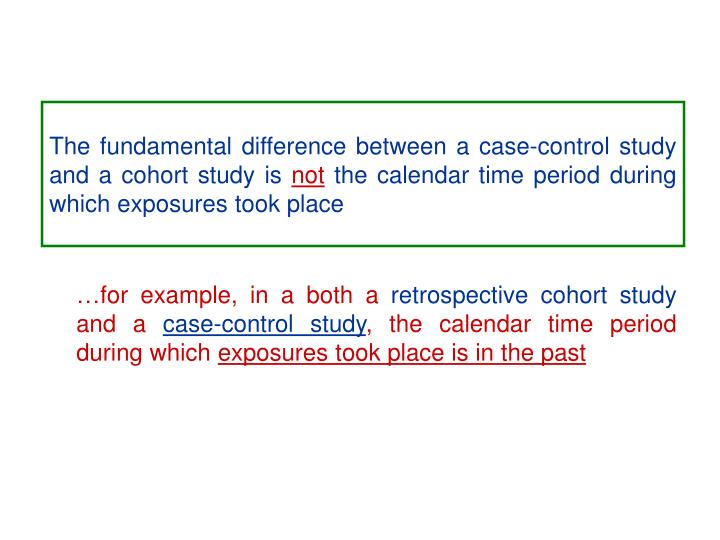 The fundamental difference between a case-control study and a cohort study is