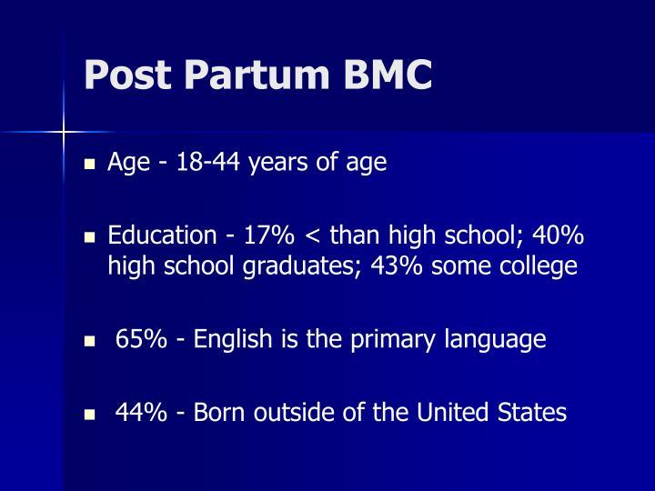 Post Partum BMC