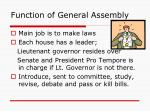 function of general assembly