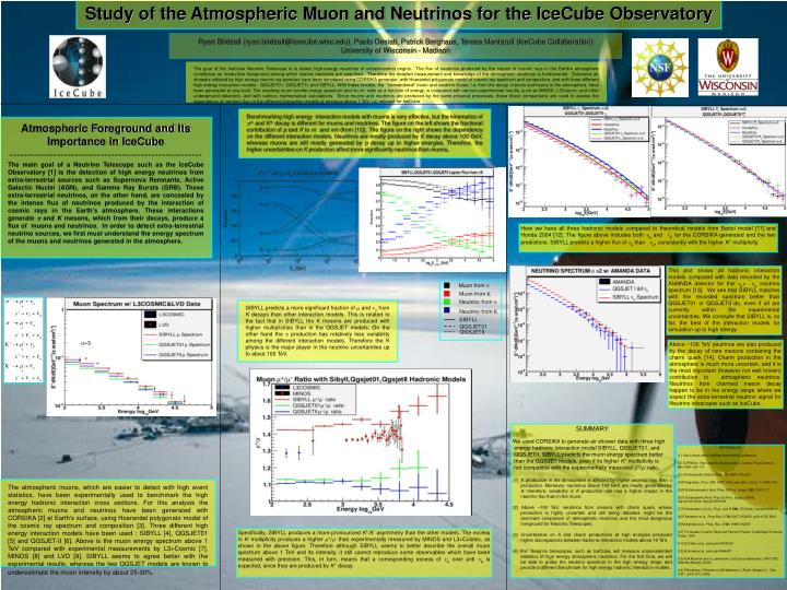 Study of the Atmospheric Muon and Neutrinos for the IceCube Observatory