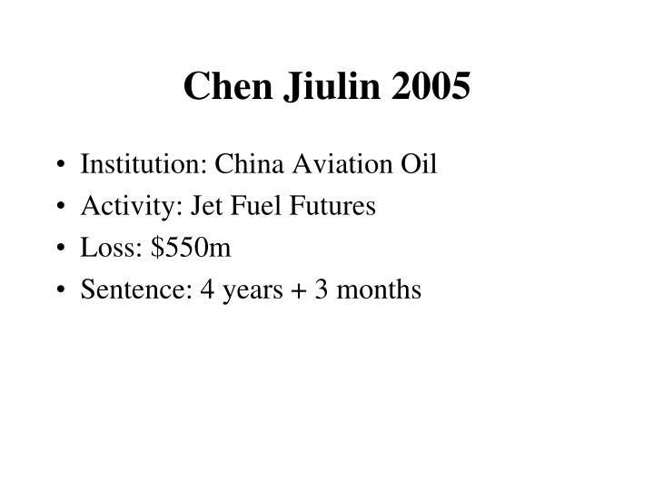 Chen Jiulin 2005