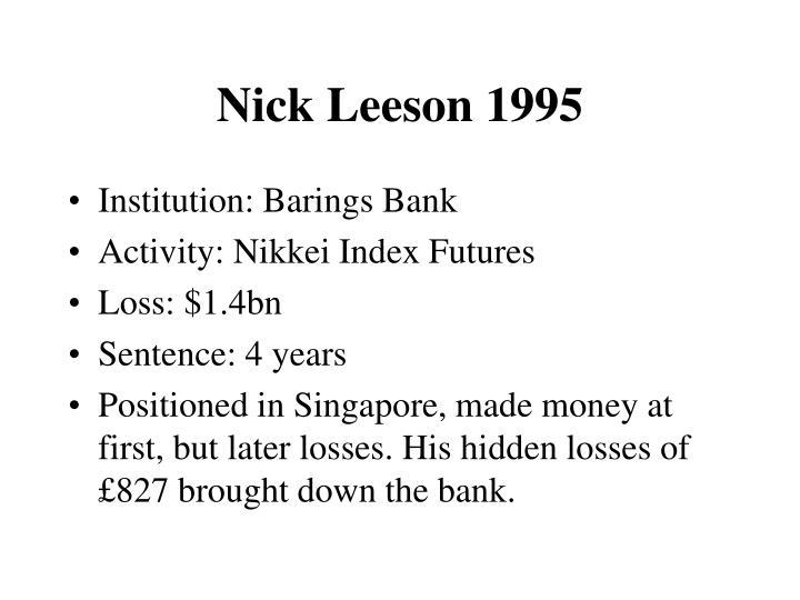 Nick Leeson 1995