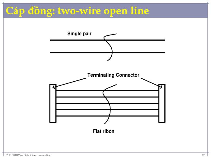 Cáp đồng: two-wire open line