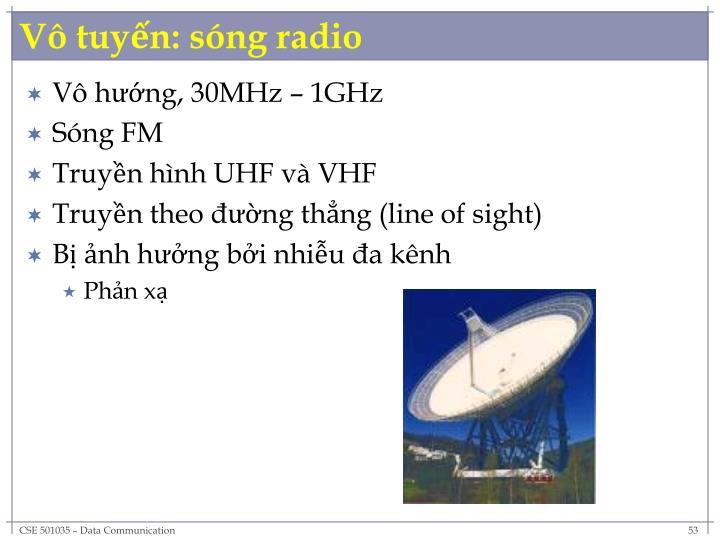 Vô tuyến: sóng radio