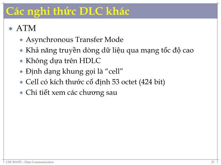 Các nghi thức DLC khác