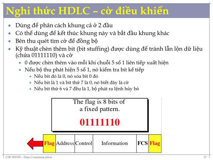 Nghi thức HDLC – cờ điều khiển