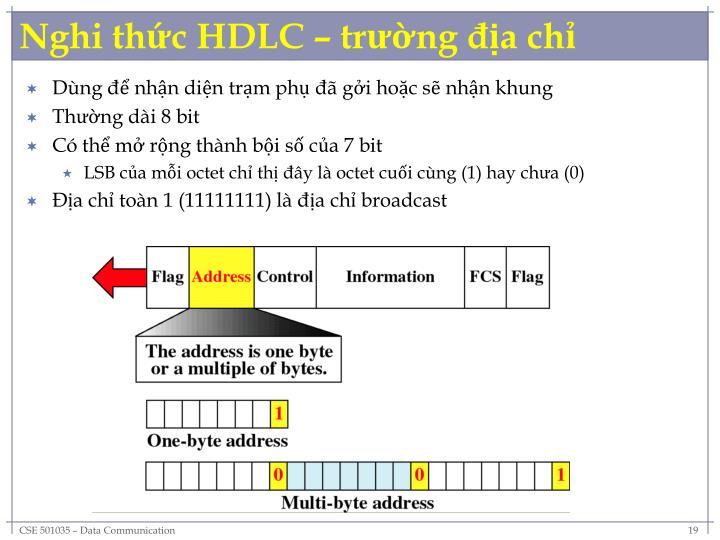 Nghi thức HDLC – trường địa chỉ