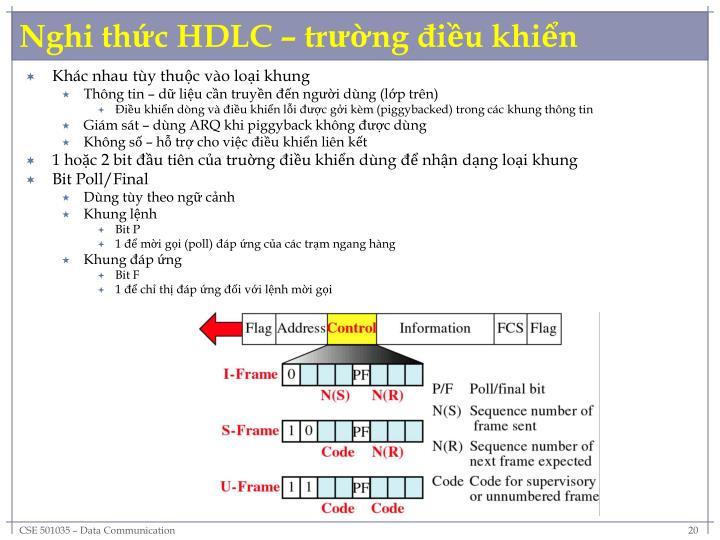 Nghi thức HDLC – trường điều khiển