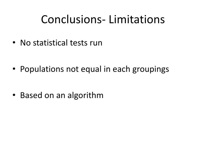 Conclusions- Limitations