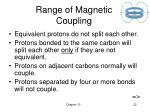 range of magnetic coupling