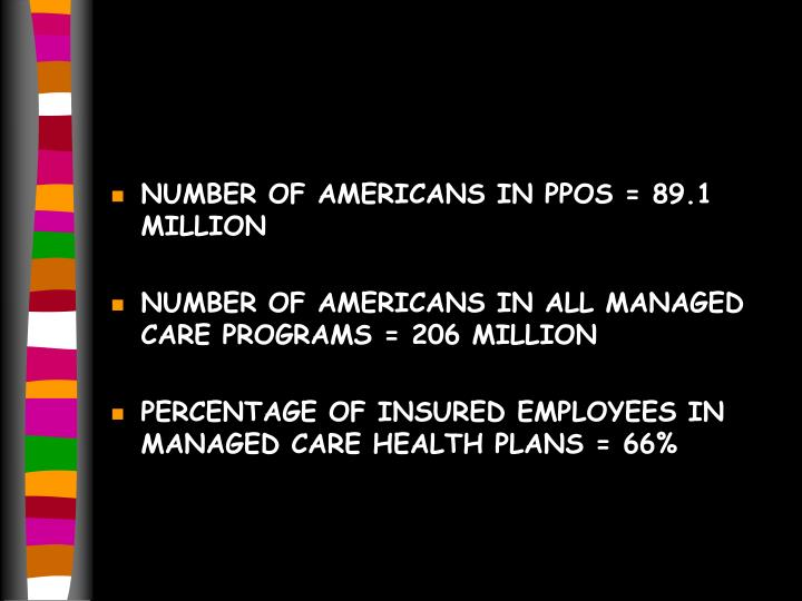 NUMBER OF AMERICANS IN PPOS = 89.1 MILLION