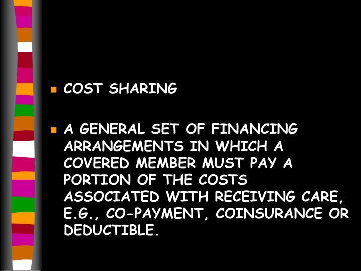 COST SHARING