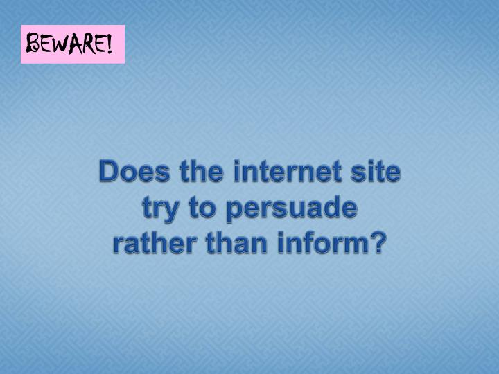 Does the internet site