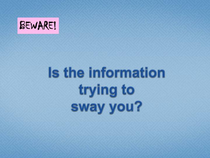 Is the information