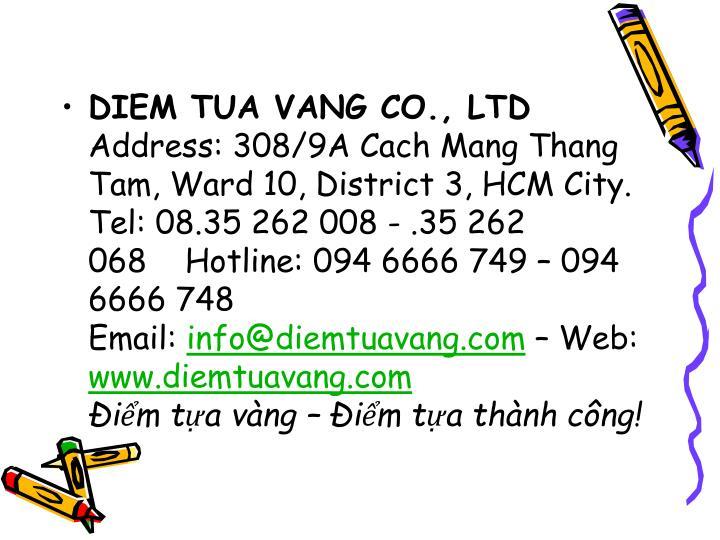 DIEM TUA VANG CO., LTD