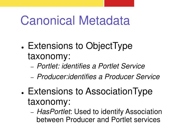 Extensions to ObjectType taxonomy: