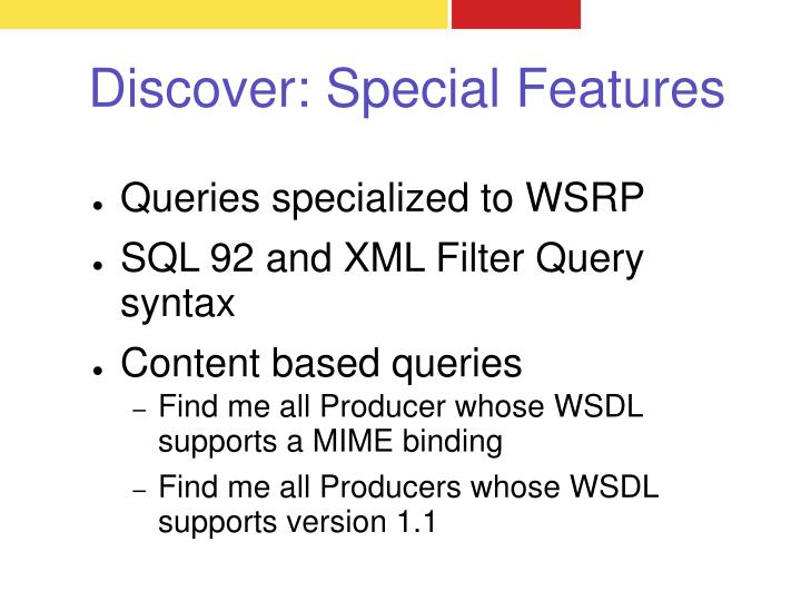Discover: Special Features