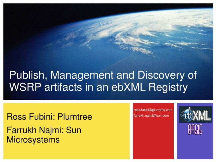 Publish, Management and Discovery of