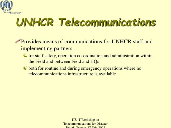 UNHCR Telecommunications