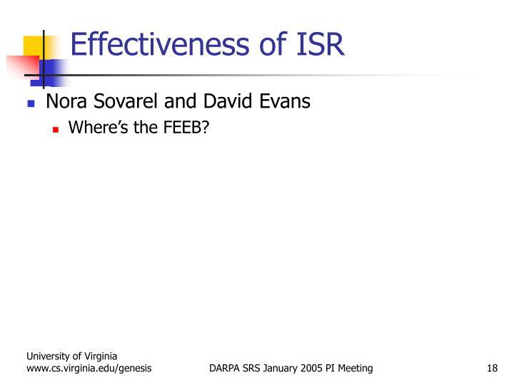 Effectiveness of ISR