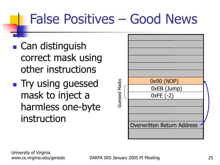 False Positives – Good News