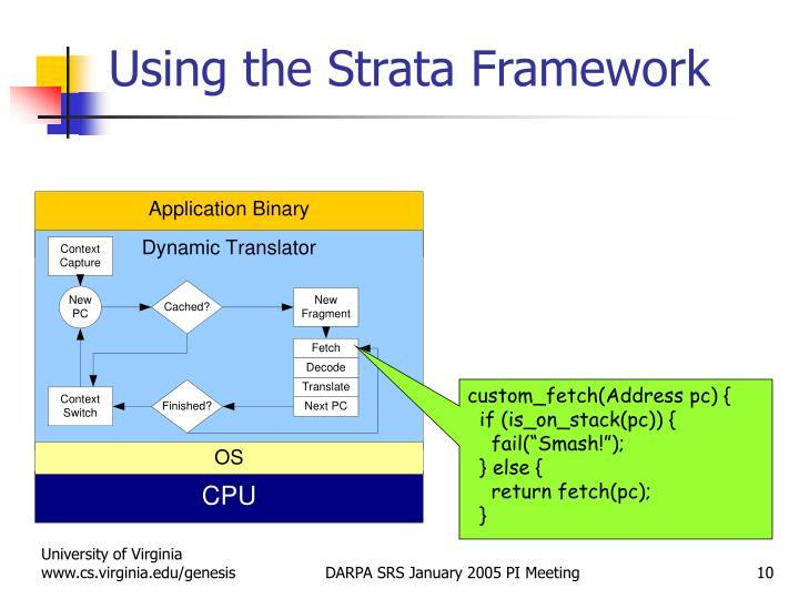Using the Strata Framework