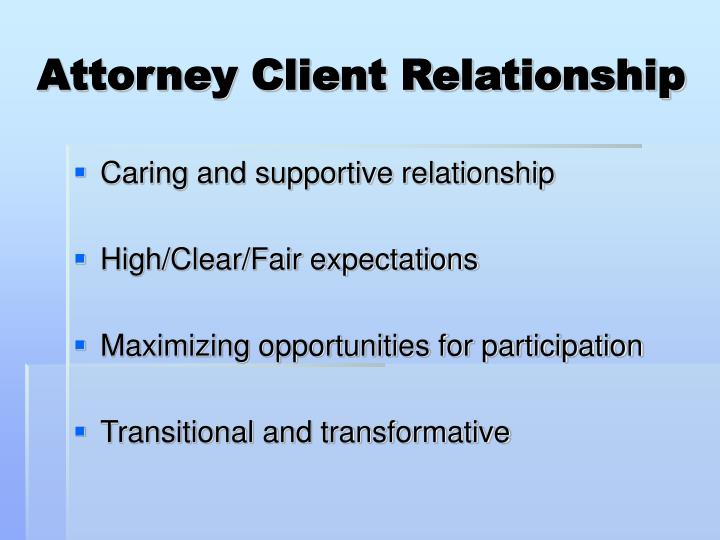 Attorney Client Relationship