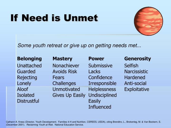 If Need is Unmet
