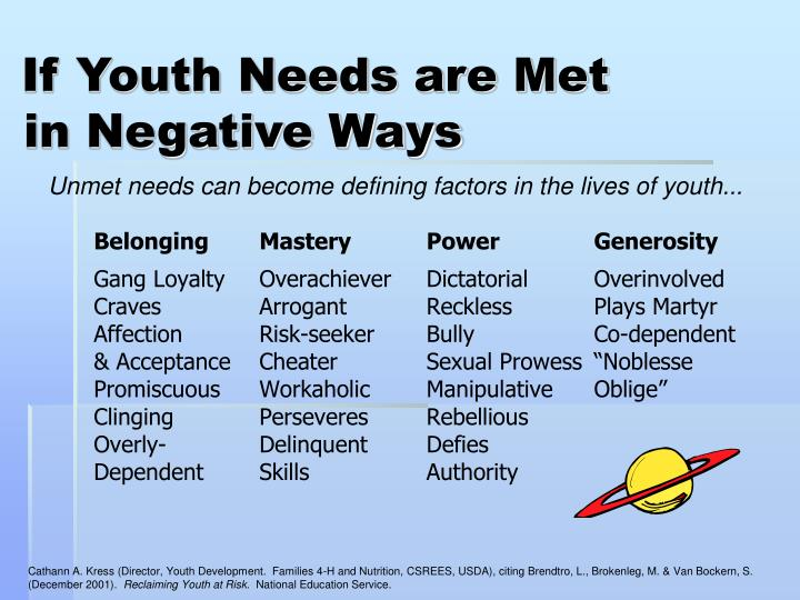If Youth Needs are Met