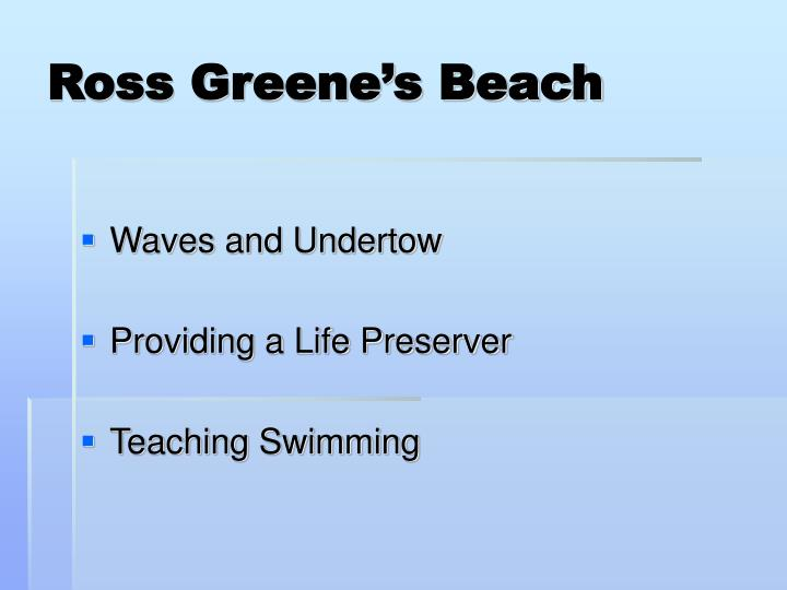 Ross Greene's Beach