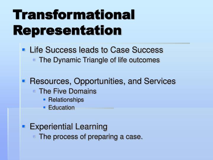 Transformational Representation