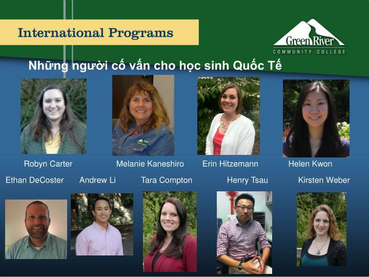 Những người cố vấn cho học sinh Quốc Tế