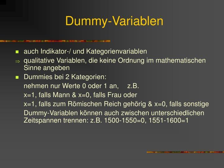 Dummy-Variablen