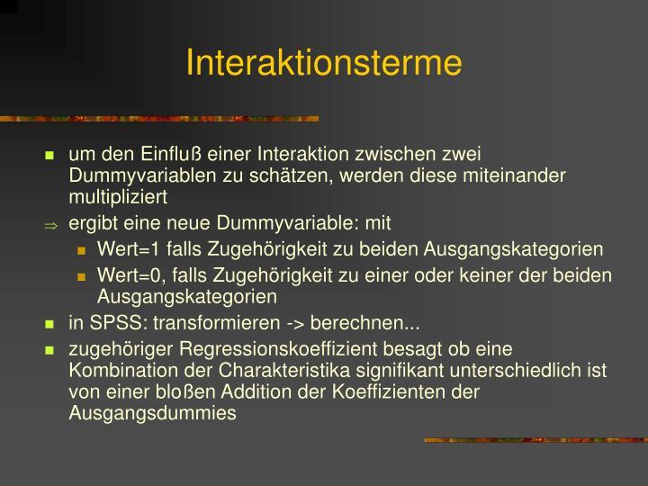 Interaktionsterme