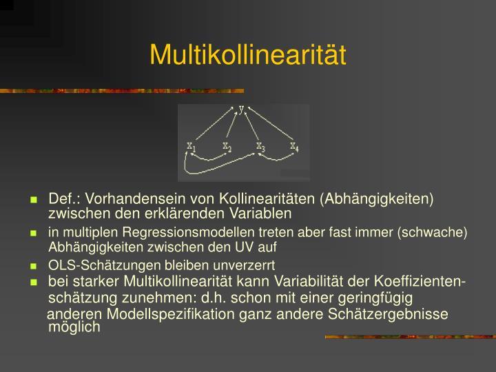 Multikollinearität
