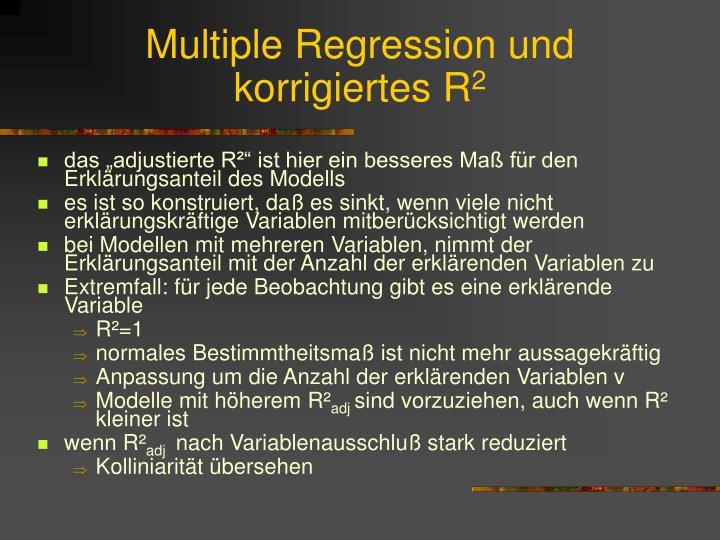 Multiple Regression und