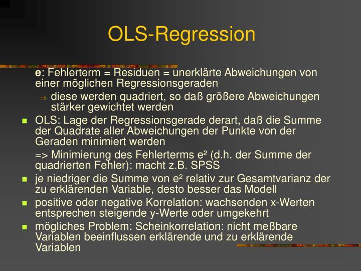OLS-Regression