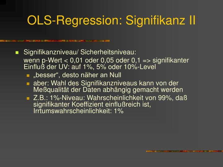 OLS-Regression: Signifikanz II