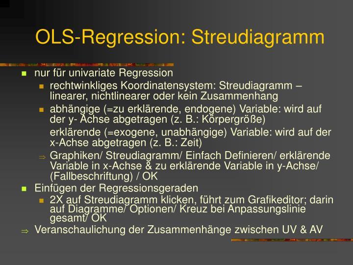 OLS-Regression: Streudiagramm