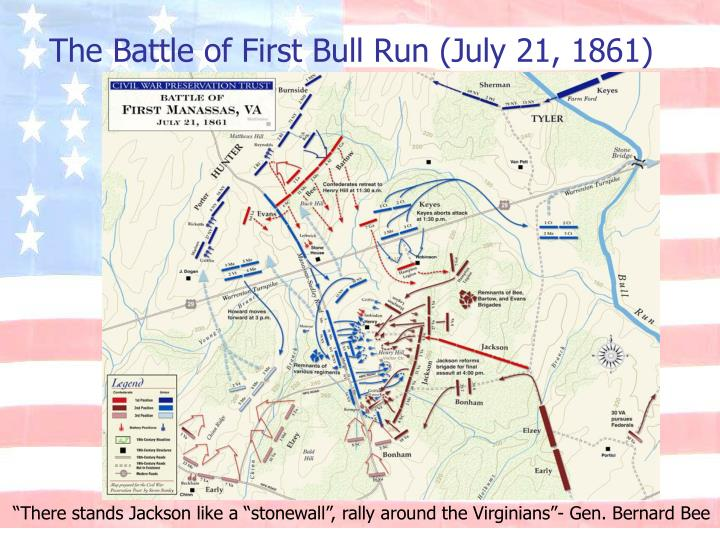 The Battle of First Bull Run (July 21, 1861)