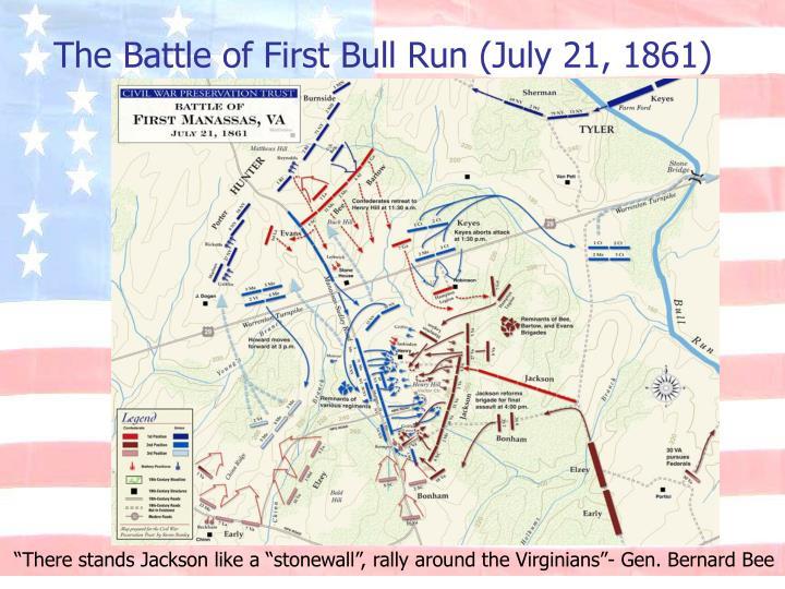 The Battle of First Bull Run (July 21, 1861)