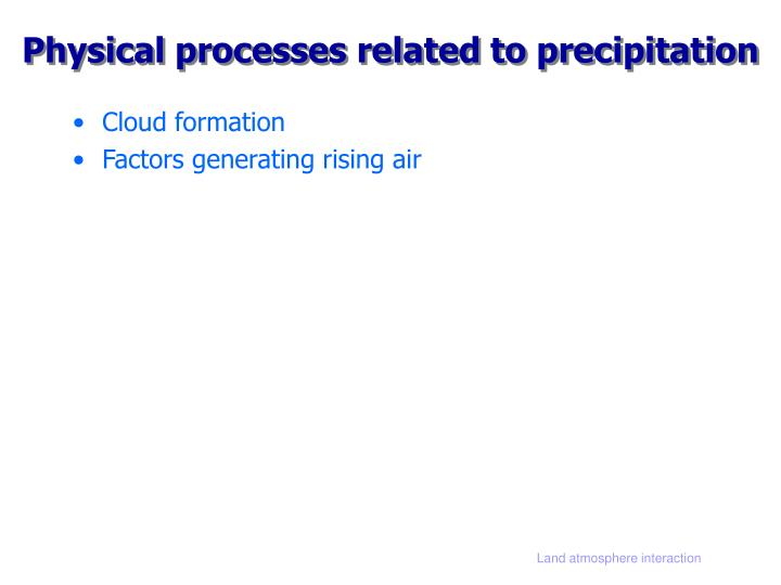 Physical processes related to precipitation