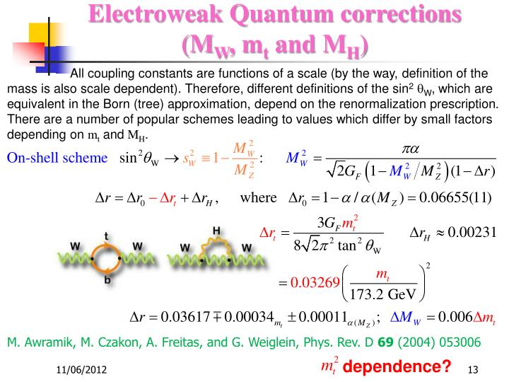 Electroweak Quantum corrections