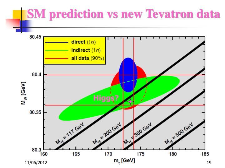 SM prediction