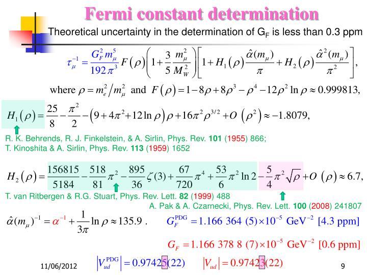Fermi constant determination
