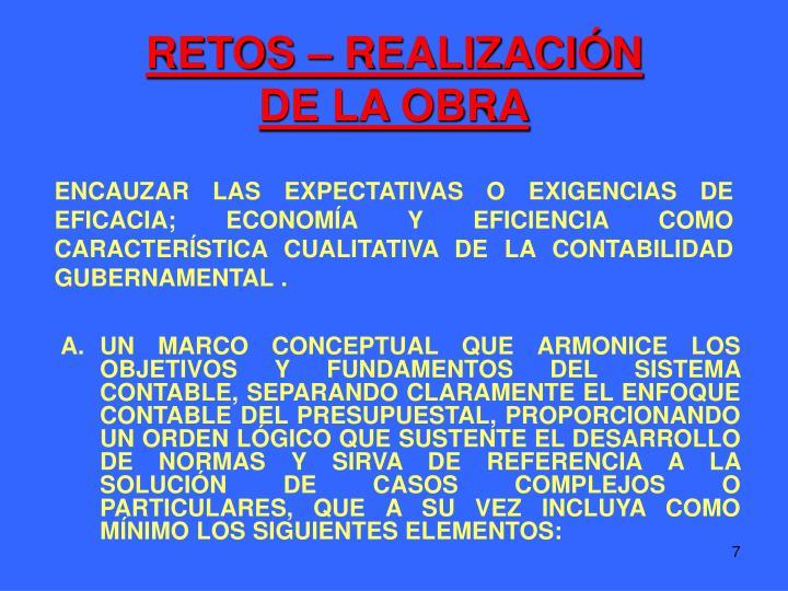 RETOS – REALIZACIÓN